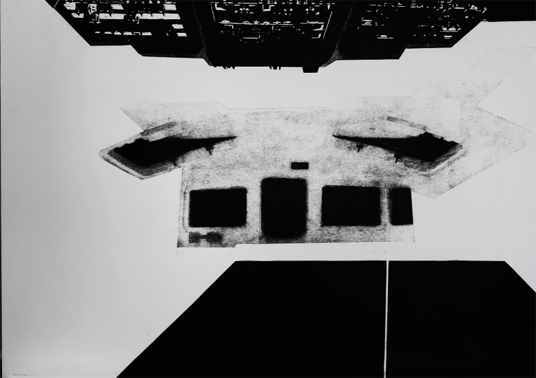 Postvisions (1) | intaglio, woodcut | 100x70 cm