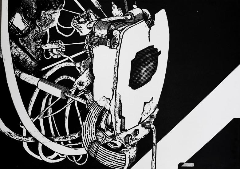Postvisions (6) | intaglio, woodcut | 100x70 cm