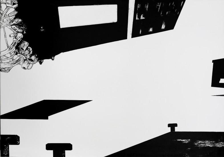 Postvisions (4) | intaglio, woodcut | 100x70 cm