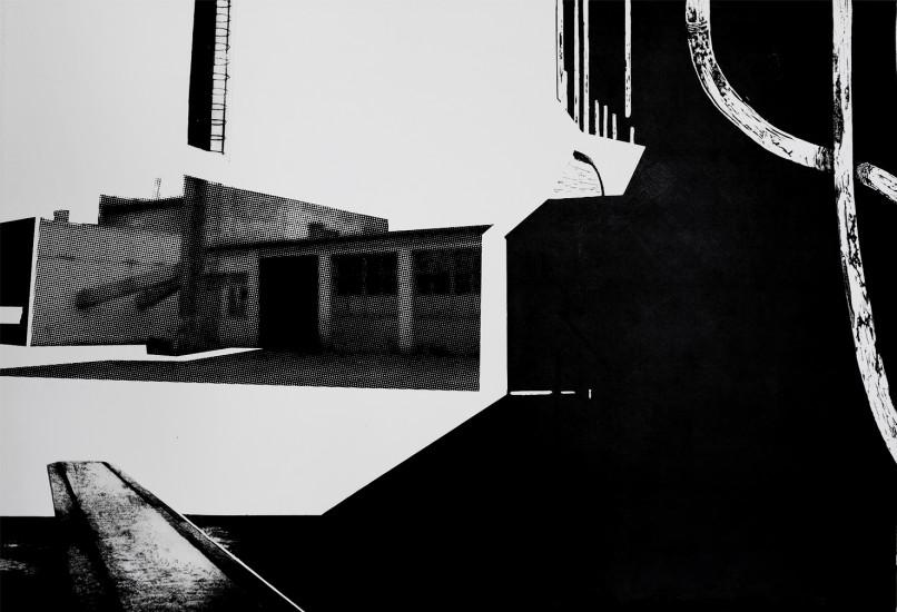 Postvisions (5) | intaglio, woodcut | 100x70 cm