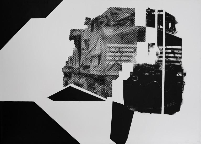 Postvisions (7) | intaglio, woodcut | 100x70 cm